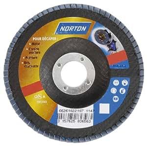 Norton Disque à lamelles fibre technique Norzon 125 x 22 mm Grain 40
