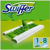 Swiffer Starter-Set (1Bodenwischer und 8Bodentücher) 1er Pack
