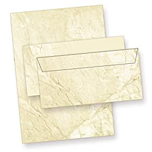 letter writing paper structure marbled (100 sets incl. envelopes) printed two-sided textures paper (granite marble) with matching envelopes. Gift idea!