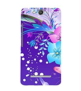 printtech Floral Pattern Back Case Cover for Micromax Canvas Juice 3 Q392