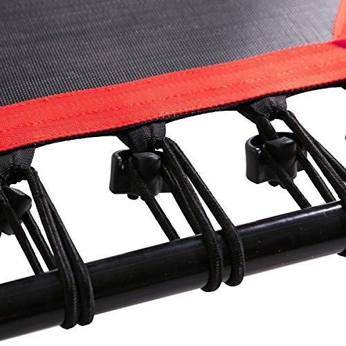 SportPlus Fitness Trampolin, Bungee-Seil-System, Ø 110 cm, bis 130 kg Benutzergewicht, TÜV Süd Sicherheit geprüft, rot - 3