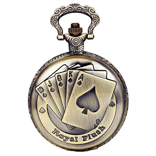 LANCARDO Taschenuhr Vintage Herren Damen Uhr Analog mit Halskette Weihnachten Geschenk