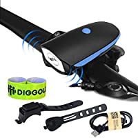Set luci bici USB ricaricabile – Super luminoso 370 Lumen.