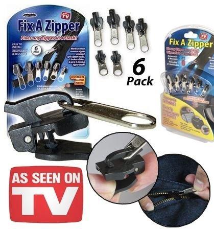 6 pc / sacchetto universale istantaneo Fix Zipper kit di riparazione sostituzione postale Slider Denti di soccorso di nuovo disegno Cerniere