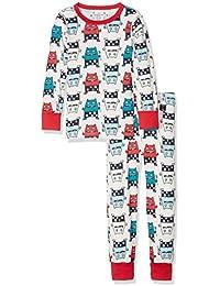 Polarn O. Pyret Montrouge, Pantalones de Pijama para Bebés, Rojo (Ski Patrol), 12-24 Meses