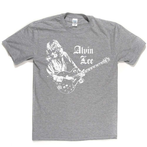 Alvin Lee English Guitarist & Singer T-shirt Aschgrau