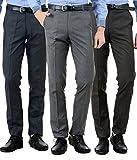 #6: American-Elm Men's Formal Trousers - Combo of 3