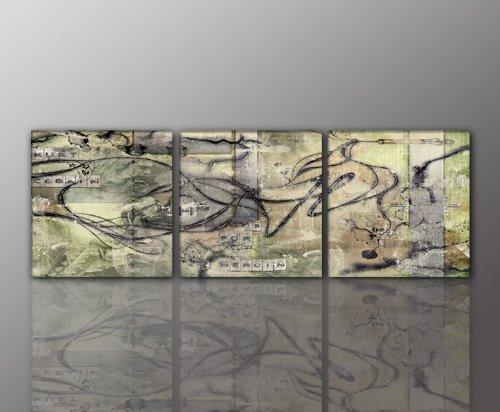 Juego 3-cuadro abstracto Modern Art