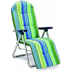 Best 33300085 - Silla de jardín - sillas de jardín (Salón, Sólido, Asiento acolchado, 8 cm) Verde, Plata