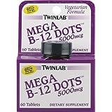 Twinlab - Mega B-12 Dots 5000 mcg - 60 Comprimés