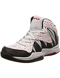 Nivia Heat Basketball Shoes, UK 7 (White/Red)