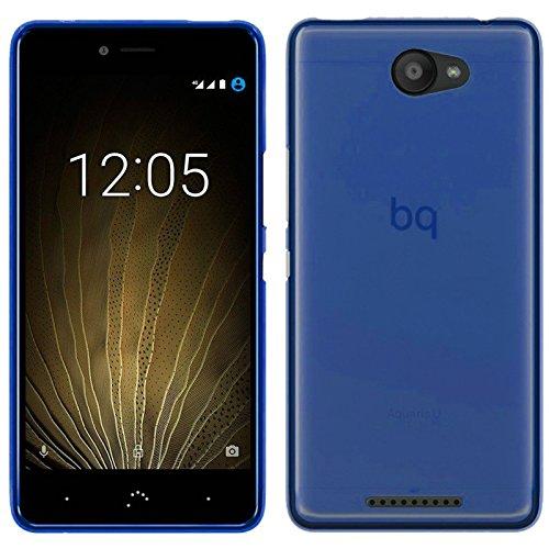TBOC® Blau Gel TPU Hülle für bq Aquaris U - bq Aquaris U Lite (5.0 Zoll) Ultradünn Flexibel Silikonhülle
