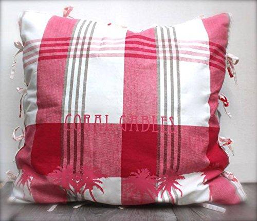 Coral Gables Check Pillow