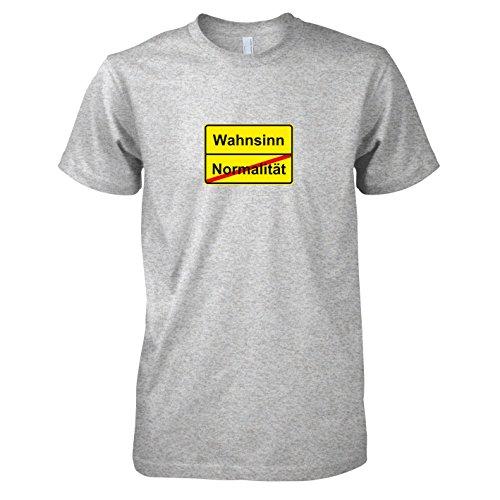 TEXLAB - Schluss mit Normalität Schild - Herren T-Shirt Graumeliert