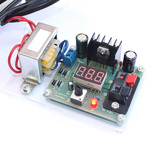 Preisvergleich Produktbild KKmoon LM317 1.25V-12V stufenlos geregelten Spannung Netzteil Bausatz mit Transformator