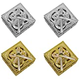 BOXO Fancy Decorative Storage Box For Women, Set Of 4, Golden And Silver, Pack Of 1