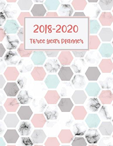 "2018 - 2020 Three Year Planner: 36 Months 3Years Calendar Yearly Goals Monthly Task Checklist Organizer Agenda Schedule Logbook Appointment with Dot Journal Notebook 8.5x11"""