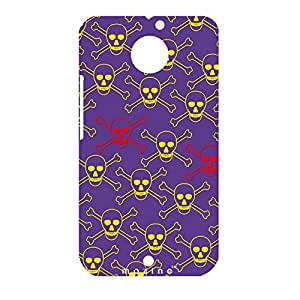 Mozine Yellow Skull printed mobile back cover for Motorola Moto X 2nd gen