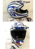 Casque cross TNT viper tg M 57-58 cm-Bleu/Blanc