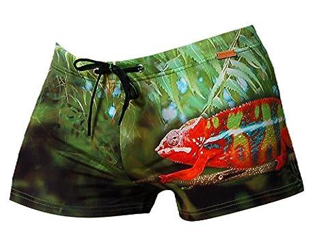 BRUNO BANANI Herren Badehose Swimwear Badeshort Schwimmshort CHAMELEON DRUCK, Grösse:M - 5 - 50;Farbe:grün