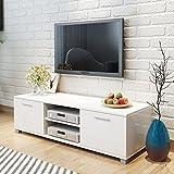 vidaXL Hochglanz TV-Schrank Fernsehtisch Lowboard Sideboard Weiß 120x40,3x34,7cm - 2