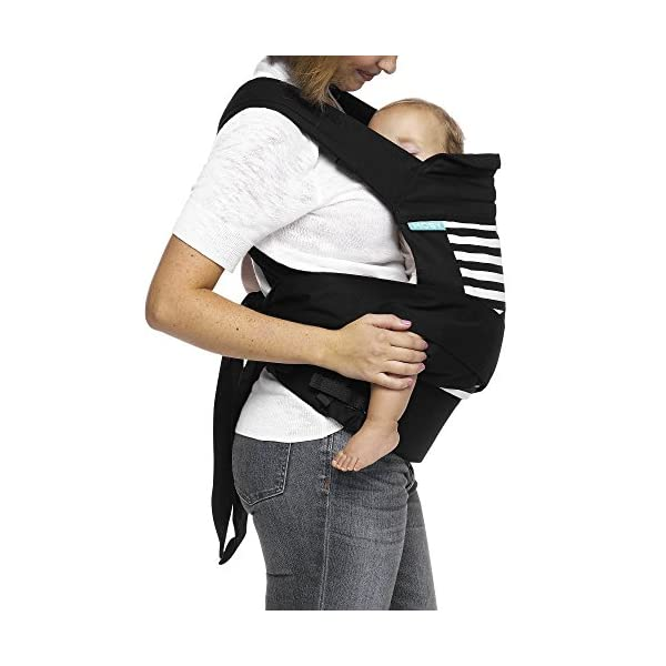 MOBY Buckle Tie Carrier for Baby to Toddler up to 45lbs, One Size Fits All, Unisex,Stripes Moby One-size-fits-all Grows with baby, from infant to toddler Offers front, hip and back carrying positions 3