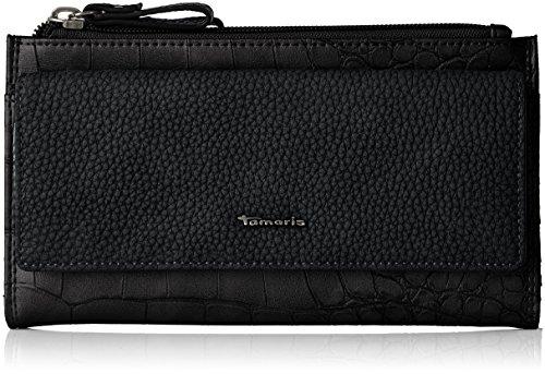 Tamaris Damen Daisy Big Snap Wallet Geldbörse, Schwarz (Black Comb), 3.5x11x20 cm