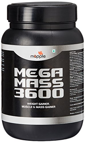 GRF Ayurveda Mega Mass 3600 Whey Protein Supplement - 300 g (Chocolate)  available at amazon for Rs.376