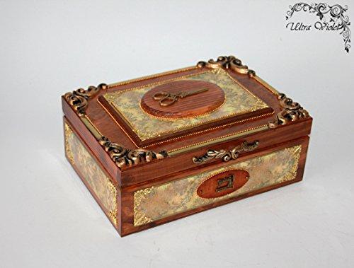 Nähen / Stricknadeln Box mit Nadelkissen ,Schubladen Box, Nähmaschine, Garn, Nadel, quilt, Sewing Supplies, - Schubladen Nähen