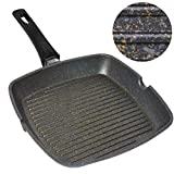 Home Icon Kupfer Granit Grillpfanne 29 cm Abnehmbarer Griff, Induktion,...
