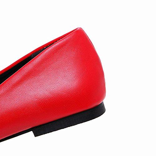 MissSaSa Donna Sottile col Senza Tacco Pumps Elegante Rosso