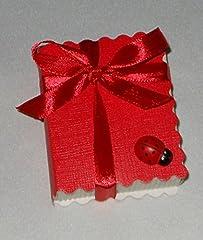 Idea Regalo - 10 pz libro rosso portaconfetti laurea scatolina