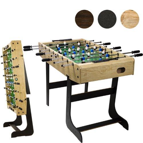 """Tischfussball """"Belfast"""", klappbar, Farbe: Holzdekor hell, nahtlos hochgezogene Spielfeldecken, inkl. 2 Bälle, Kicker Kickertisch Tischkicker"""