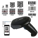 Nyear 1D 2D drahtlos und verdrahtet Zwei in Einem Bluetooth 4.0 & USB Barcode-Scanner, Handheld-Laser-Barcodeleser mit automatischer kontinuierlicher Scan für Computer ipad iPhone Android Windows