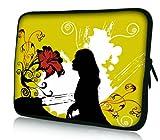 Luxburg Design Laptoptasche Notebooktasche Sleeve für 15,6 Zoll (auch in 10,2 Zoll  12,1 Zoll  13,3 Zoll  14,2 Zoll  15,6 Zoll  17,3 Zoll) , Motiv: Frau am Klavier