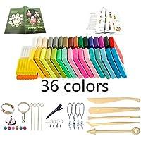 Arcilla de Polimérica, 36 Colores horno Bake modelado de arcilla, Segura y No Tóxica DIY Colorful Modelado Craft Set y 14 Piezas Accesorios, Mejores Regalos para Los Niños