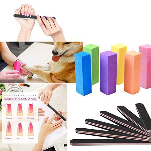Nagelfeilen Und Puffer Für Frauen Mädchen Professionelle Pediküre Maniküre Werkzeug (12 PCS) -