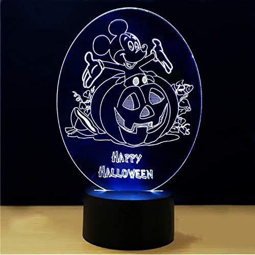 Farben 7 Led Kinder Schlafzimmer Atmosphäre Lampe 3D Maus Kürbis Form Schreibtischlampe Cartoon Halloween Leuchte Nachtlicht Dekor Geschenk