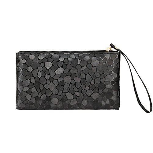 Mefly Telefono Cellulare Borsa Nuova Lady Telefono Mobile Bag Viola black
