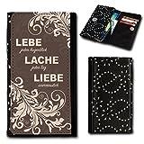 Strass Book Style Flip Handy Tasche Case Schutz Hülle Foto