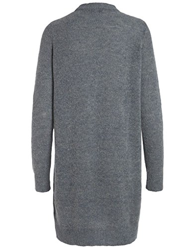 PIECES Damen Pullover Pcjane Ls Long Wool Knit Noos Grau