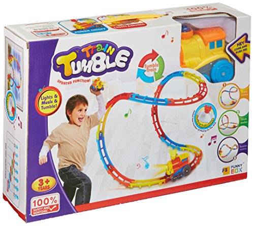 SainSmart Jr. Tumble Track Train Play Set, mit Licht und Sound, Achterbahnen, Sucker enthalten, 23 (Taste Kostüm Puppe)