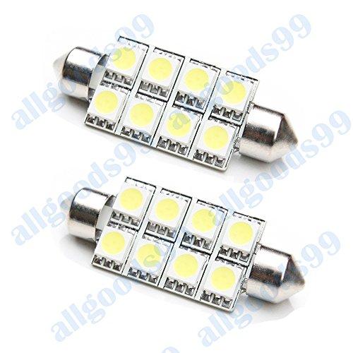 2x-white-8xsmd-led-interior-light-bulb-audi-tt-coupe-a3-a4-42-44mm