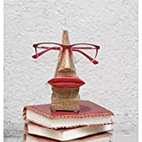 #9: Onlineshoppee Handmade Wooden Nose Shaped With Red Lips Spectacle Holder