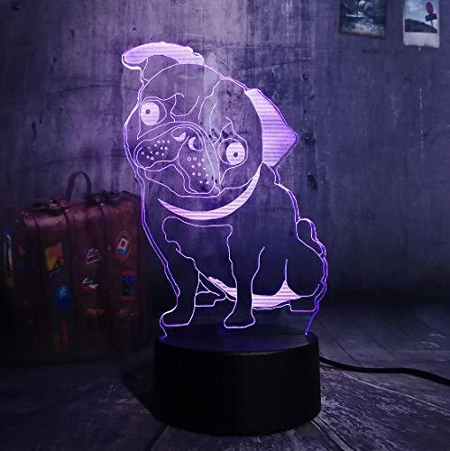 chen Mops Welpen Led Nachtlicht Schönen Hund Hündchen Tier Schreibtisch Tisch Schlafzimmer Schlaf Haus Dekor Lampe Kind Kind Geschenk Lampe ()