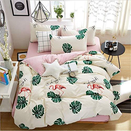 SHJIA Home Bettwäsche-Sets Druck Tröster Bettbezug Set Größe Single Full Double Queen King B 200x230cm -