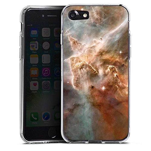 Apple iPhone X Silikon Hülle Case Schutzhülle Sterne Space Muster Silikon Case transparent