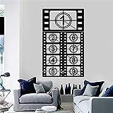 LSFHB Filmstreifen Vinyl Wandtattoo Kino Raum Filmaufnahmen Film Kunst Aufkleber Sofa Hintergrund DekorInnendekorMonochrome Wand42x73 cm