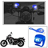 #9: Vheelocityin 2+2 Led Blue Bike Light with Flashing Mode Motorcycle LED For Bajaj Avenger