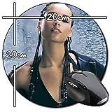 Alicia Keys Tapis De Souris Ronde Round Mousepad PC